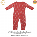 Luvable Friends Little Star Baby Zips Sleepsuit - MP55234
