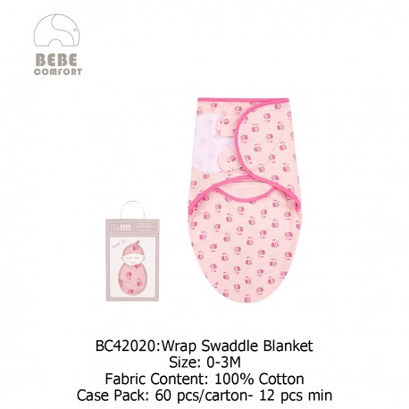 Luvable Friends Bebe Comfort Wrap Swaddle Blanket - BC42020