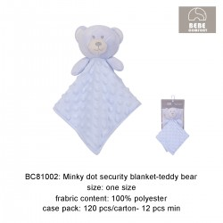 Bebe Comfort Minky Dot Security Blanket (Teddy Bear) BC81002