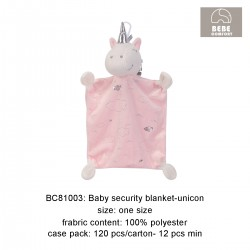 Bebe Comfort Minky Dot Security Blanket (Unicorn) BC81003