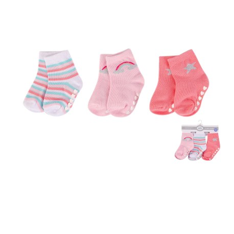 Luvable Friends Baby Socks with Non Skid 3pk - 00493