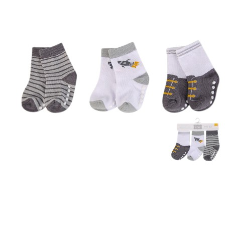 Luvable Friends Baby Socks with Non Skid 3pk - 00431CH