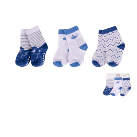 Luvable Friends Baby Socks with Non Skid 3pk - 00434CH