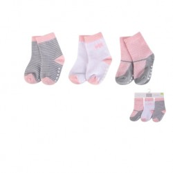 Luvable Friends Baby Socks with Non Skid 3pk - 00437CH