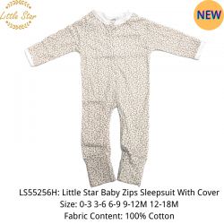 Little Star Baby Zips Sleepsuit with Cover - LS55256H