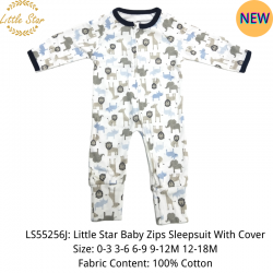 Little Star Baby Zips Sleepsuit with Cover - LS55256J