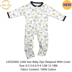 Little Star Baby Zips Sleepsuit with Cover - LS55256N