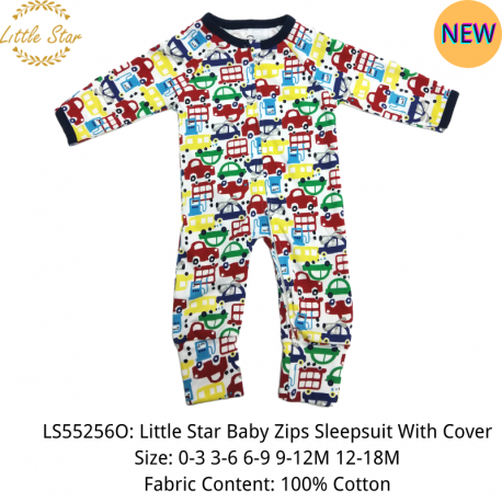 Little Star Baby Zips Sleepsuit with Cover - LS55256O