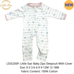 Little Star Baby Zips Sleepsuit with Cover - LS55256P