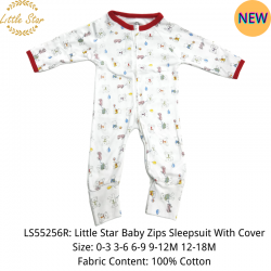 Little Star Baby Zips Sleepsuit with Cover - LS55256R