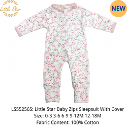 Little Star Baby Zips Sleepsuit with Cover - LS55256S