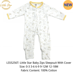 Little Star Baby Zips Sleepsuit with Cover - LS55256T