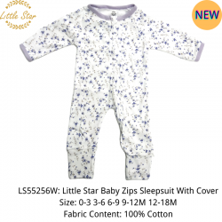 Little Star Baby Zips Sleepsuit with Cover - LS55256W