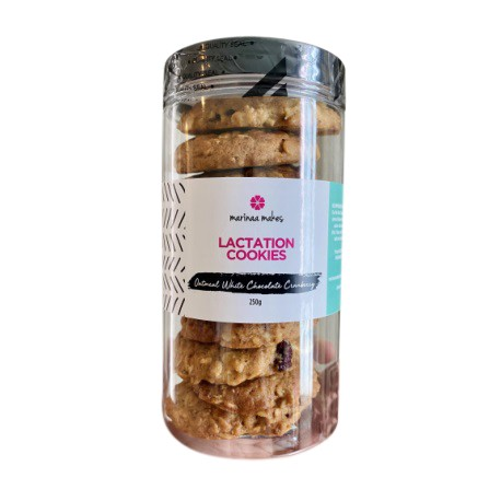 Marinaa Makes Cranberry White Choc Lactation Cookies