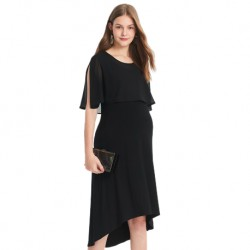 Mamaway Maternity and Nursing Dress with Chiffon Top