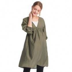 Mamaway Lantern Sleeve 2 Piece Maternity and Nursing Dress (Green)
