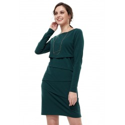 Mamaway Ultra-stretch Maternity and Nursing Dress (Green)
