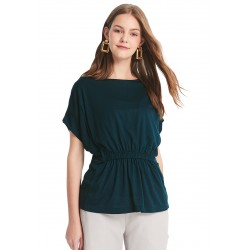 Mamaway Nursing Loose Top with Back Tie (Green)