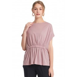 Mamaway Nursing Loose Top with Back Tie (Pink)