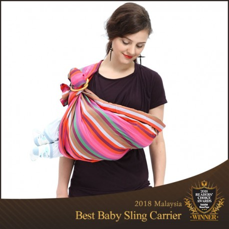 Mamaway Rainbow Crayon Baby Ring Sling Carriers Slings