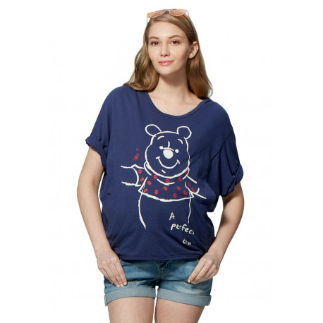 Mamaway Disney Winnie the Pooh Maternity & Nursing Loose Top (Blue)