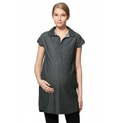 Mamaway Cool Dry Polo Maternity & Nursing Dress (Black)