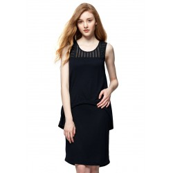 Mamaway Maternity & Nursing Two Tiered Dress (Black)