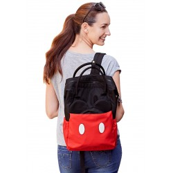 Mamaway Disney Mother & Baby Backpack With Safety Harness (Red)
