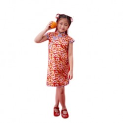 Kiwi Kiwi CNY Traditional Cheongsam/Qipao for Kids (KK-82023/RED.F)