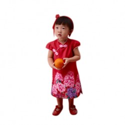 Kiwi Kiwi CNY Cheongsam/Qipao with Digital Printed for Kids