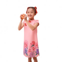 Kiwi Kiwi CNY Cheongsam/Qipao with Digital Printed for Kids (Pink)
