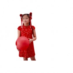 Kiwi Kiwi CNY Cheongsam/Qipao with Fully Lace Fabric for Babies (KT-82030/B.Red)