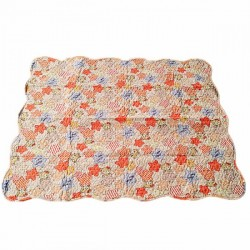 Maylee Cotton Patchwork Baby Quilted- Orange
