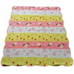 Maylee Cotton Patchwork Baby Quilted (Sunny Flower)
