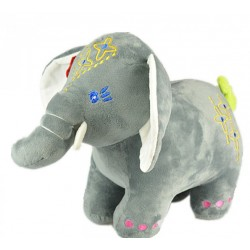 Maylee Big Colourful Plush Elephant 28cm (Grey)