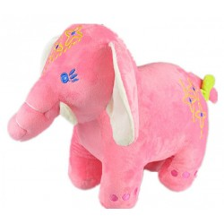 Maylee Big Colourful Plush Elephant 28cm (Pink)