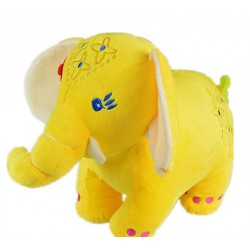 Maylee Big Colourful Plush Elephant 28cm (Yellow)