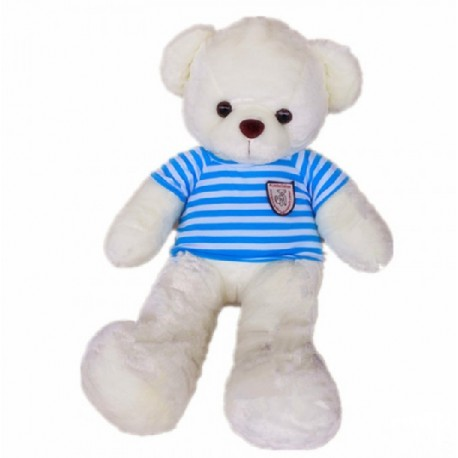 Maylee Big Plush Teddy Bear with Shirt Blue (M) 60cm
