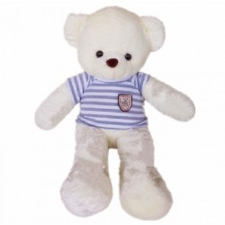 Maylee Big Plush Teddy Bear with Shirt Grey (M) 60cm