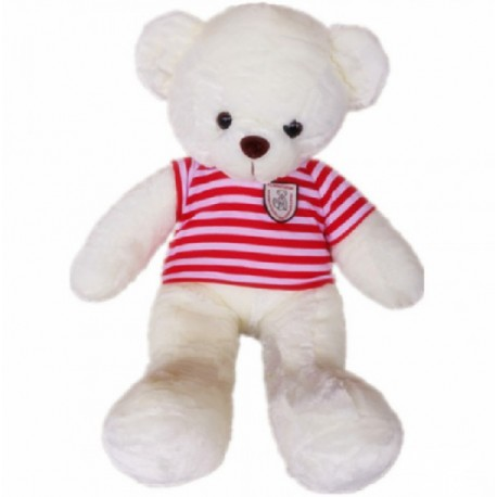 Maylee Big Plush Teddy Bear with Shirt Red (M) 60cm