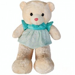 Maylee Big Plush Teddy Bear with Skirt Greenish Blue (L) 100cm