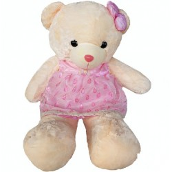 Maylee Big Plush Teddy Bear with Skirt Pink 100cm