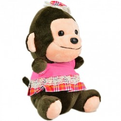 Maylee Cute Plush Monkey with Skirt 18cm (Pink)