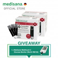 Medisana MediTouch 2 Glucose Test Strips of 50 pieces + 50 pieces + Meter