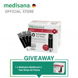 Medisana MediTouch 2 Glucose Test Strips of 100 Pieces