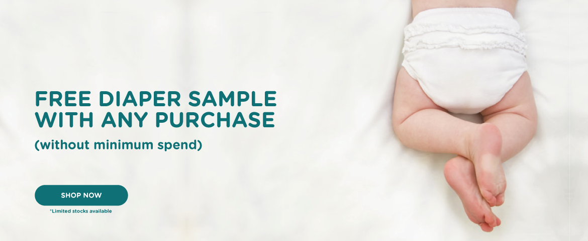 Free diaper sample with any purchase