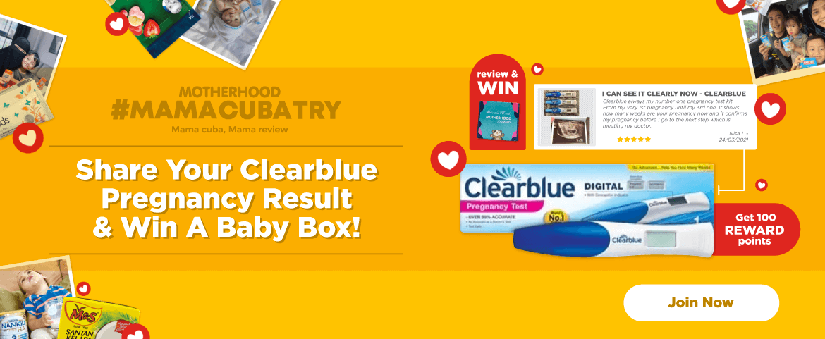 Mamacubatry Clearblue - Share your Clearblue pregnancy result and win a baby box