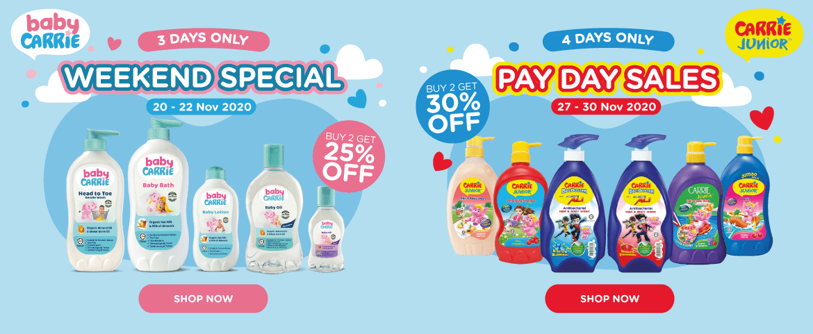 Baby Carrie Weekend Special & Carrie Junior Pay Day Sales