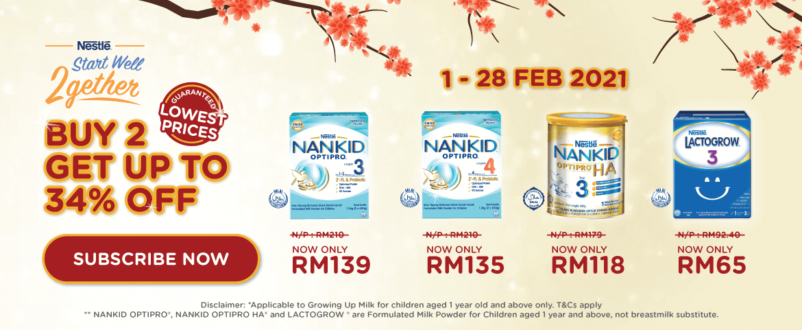 Nestle Buy 2 get up to 34% OFF