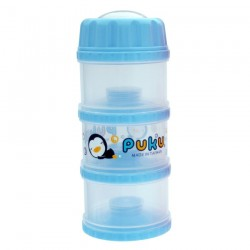 PUKU 3 Layers Independet Milk Powder Dispenser Formula Baby Infant Container Portable Box Case 100ml P11012-799